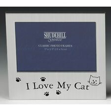 "Photo Frame - I LOVE MY CAT - 5"" x 3.5"" * NEW * Gift"