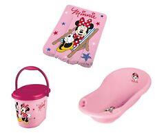 Bañera de Bebé + Cambiador + Contendedor para Pañales Disney Minnie Ratón Rosa