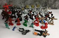 Vintage Big Set Toy Soldiers Multi Color Plastic Knights Indians Soviet USSR A
