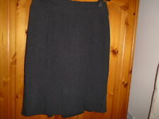 Smart black and white stripe office skirt, kick pleats, DOROTHY PERKINS, size 10