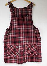 Urban DUNGAREE style 90s Fashion Pinafore Check Tartan Dress Clueless Boho