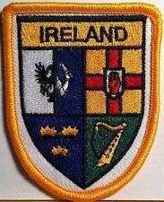 Irish Shield  Embroidered Patch  With VELCRO® Brand Fastener  Ireland Emblem