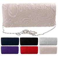 Women's Party Wedding Purse Bridal Shoulder Clutch Evening Bag Chain Handbag