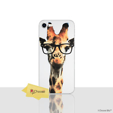 """Funny Animals Case/Cover Apple iPhone 8 (4.7"""") / Silicone Gel / Giraffe Glasses"""