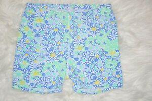 Lilly Pulitzer Blue Haven Biancas Love Meryl Nylon Sean Tennis Shorts Size XXS