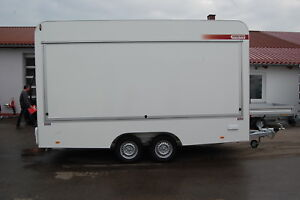 Verkaufsanhänger 420 x200 x230 cm - 2000 kg Imbissanhänger Verkaufswagen NEU TOP