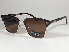 New Steve Madden Soho Horn Rim Sunglasses Tortoise Gold / Brown Lens SMM87724