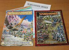Warhammer-Isla de Sangre & batalla por maugthrond pasar folletos-Games Workshop