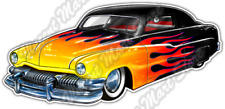 "Low Rider Classic Retro Vintage Auto Flame Car Bumper Vinyl Sticker Decal 6""X3"""
