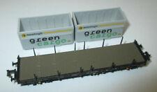 Hobbytrain 23872B Rungenwagen Rmms 665 m. 2 XXL Hackschnitzelcontainer > Neuw.
