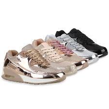 Damen Laufschuhe Glitzer Sportschuhe Lack Turnschuhe Metallic 79903 Schuhe