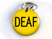 Deaf Dog Id Tag Pet tag cat tag customized with your pet info