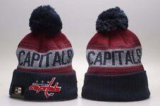 NHL Washington Capitals Hat Beanie Fan Winter Kint Lint Cap Wool Cap