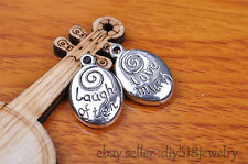 10pcs love much & laugh often pendant Charm silver DIY Jewelry Making bead 7312
