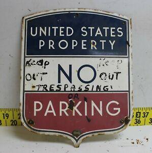 """VTG VERIBRITE US POST OFFICE PORCELAIN SIGN UNITED STATES POSTAL DEPARTMENT 15"""""""
