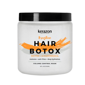 Hair Botox Treatment Brazilian Hair Mask Restoration Deep Hydration 8oz KERAZON