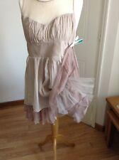 Spotlight Warehouse Pure Silk  Pastel Shade Size 10 Nylon Too Too Dress