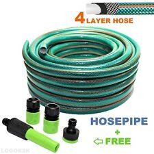 Garden Hose Pipe 4-LAYER Hosepipe Standard STRONG REINFORCED 1/2 20 30 50 m SET