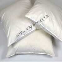"""2 - 20"""" x 20"""" (51cm x 51cm) NATURAL DUCK FEATHER CUSHION PADS INNERS INSERTS"""