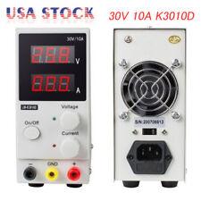 New 30v 10a Adjustable Dc Power Supply Precision Variable Digital Lab Test Led
