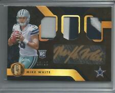 MIKE WHITE rc Auto 3 Color Patch 2018 Gold Standard Cowboys 10/25 Gold Ink