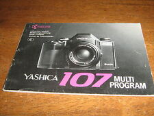 YASHICA 107 MULTI PROGRAM INSTRUCTION BOOKLET