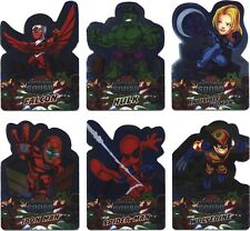 Marvel Super Hero Squad Foil Die-Cut Complete 6 Card Chase Set