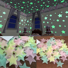 100Pcs HOT 3D Stars Wall Stickers Glow In The Dark Decal Kids Bedroom Home Decor