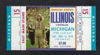 1975 NCAA MICHIGAN WOLVERINES @ ILLINOIS ILLINI FULL UNUSED FOOTBALL TICKET