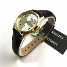 Women's Citizen Gold Tone Leather Strap Classic Watch EQ2002-07P