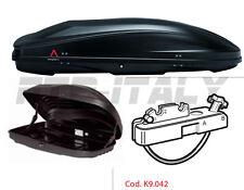 box baule portatutto per auto e camper modello SPARK 320 G3 NERO OPACO