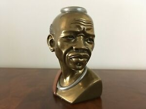 Vintage African Man Bust sculpture signed numbered by Artist Casper Darare