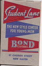 1943 Bond Clothing Note Pad New Haven Conn