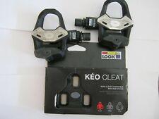 LOOK KEO 2 MAX PEDALS & NEW CLEATS, PAIR, NEW/VGC