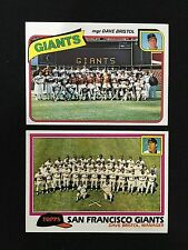 SAN FRANCISCO GIANTS UNMARKED TOPPS 1980 & 1981 TEAM BASEBALL CARDS