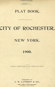 Rochester,New York~Map©~sheets ~35 maps in color high resolution~1900