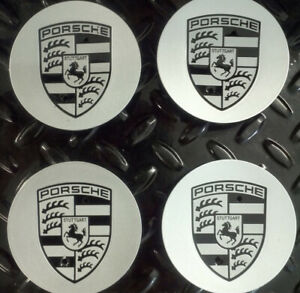 PORSCHE WHEEL CENTRE CAPS X 4 NEW 76mm For 996, 997, 911, Boxster, Cayman, 987,