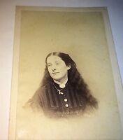 Antique American Civil War Era Woman, Hair Down! Beautiful Fashion! CDV Photo!