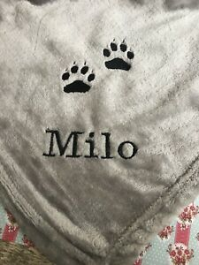 Personalised Large Dog Blanket With Name And Dog Extra soft!