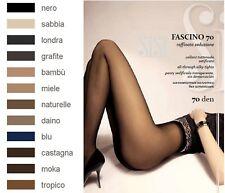SISI FASCINO 70 Collant voile sans démarcation, Taille 4 (L), Coloris : Noir
