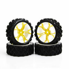 4Pcs Ruber Tire Wheel Rim For HPI Racing RC 1/10 Rally Off Road Car PP0487+MPNWG