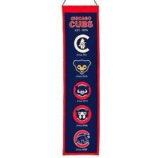"Chicago Cubs MLB Embroidered Wool Heritage 32"" Banner Pennant"