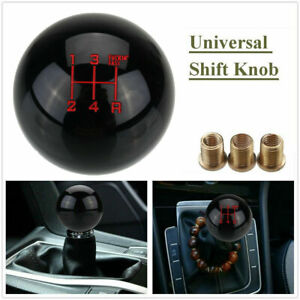Universal 5 Speed Black Round Ball Car Manual Gear Shift Knob Shifter AU Stocked