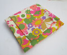 Vintage 60s 70s Flower Power Hippie Psychedelic Neon Floral Fabric 2 Yards 44' W