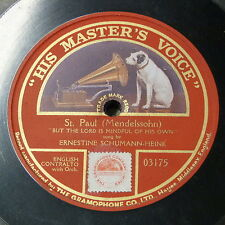 """78rpm 12"""" ERNESTINE SCHUMANN-HEINK but the lord is mindful of his own"""