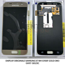 DISPLAY LCD TOUCH SCREEN VETRO ORIGINALE SAMSUNG GALAXY S7 SM-G930F GOLD ORO