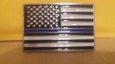 BLUE LINE FLAG BELT BUCKLE NEW BLUE LIVES MATTER