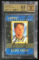 1996 Laser View Inscriptions Brett Favre Auto On Card Autograph BGS 9.5 Gem Mint