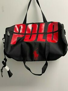Polo RALPH LAUREN Fragrances Duffle black red travel gym overnight bag weekender