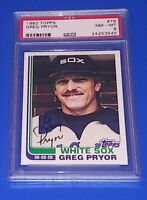 1982 Topps Baseball Greg Pryor Card #76 PSA 8 NM Chicago White Sox MLB